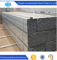 Trade Assurance Wholesale Q195/Q235B Pre-Galvanized Mild Steel Square Pipe for water delivery