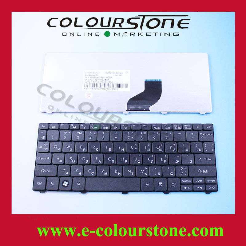 For Acer Aspire One Keyboard Layout RU For 532 532H D260 D255 521 9Z.N3K82 NSK-AS50R