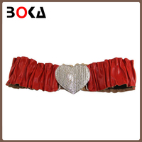new arrival customized bowknot leather belt elastic leather belt china for garment