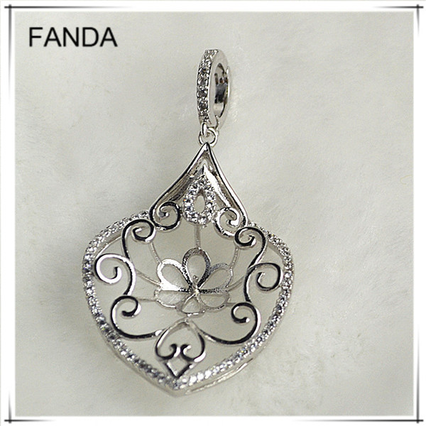 New vintage 925 silver pendant blanks design for making jewelry
