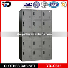 2017 YD-Furniture Big size with steel mesh layer Clothes storage metal cabinet