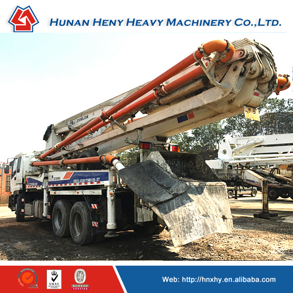 Good price ! Used 37m Zoomlion Truck-mounted concrete pump for Asia market