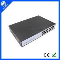 16 port 100M poe 24v output switch 24v