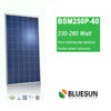 Blluesun high quality cheap and fast shipping 240watts solar panel