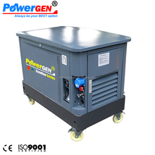 60 dB!!! POWERGEN Air-cooled Soundproof 10KVA Super Silent Gasoline Generator 10KW