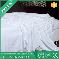WEISDIN wholesale solid white 230 thread count cotton sheets