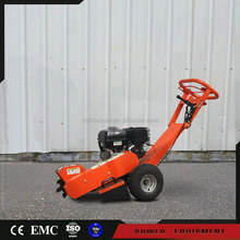 Gasoline powered tree stump grinder machine