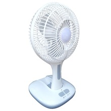 DF803 8 inch low price battery charger table fan with light