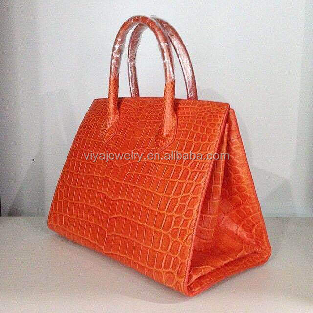 Ladies High End Quality Handmake 100% Genuine Exotic Crocdile Leather Bag For Women