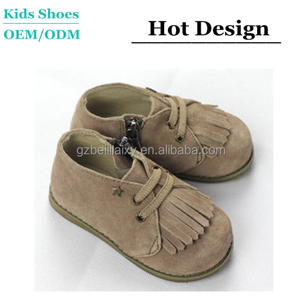 2014 Hot Selling Baby Girls Fringe Moccasins Shoes 100% Handmade Baby Shoes Baby Wrestling Shoes
