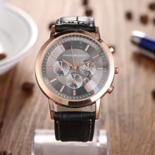 2017 Leather Strap Customized Men's Watch Original Black Watches