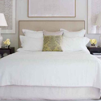 BS-0055 Classical Super Soft Natural Comfort White Cotton Modern Bedding Set,Bed Linens