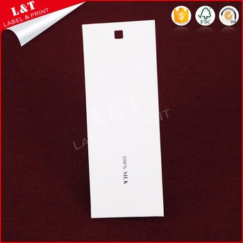 Customized Recycled Coated Paper Tshirt Tags
