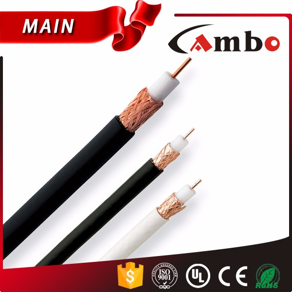 75Ohm CCTV/CATV/Satellite/Antenna Coaxial Cables Rg6 CCS/Bare Copper Conductor