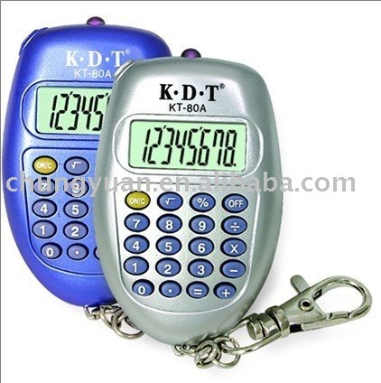 promotion calculator with key chain KT-80A