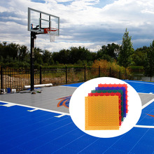 Widely used wholesale anti aging waterproof home backyard pp plastic outdoor interlock basketball sport court floor tiles