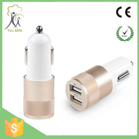 high power 12v wholesale portable 2 port mobile phone usb car charger adapter