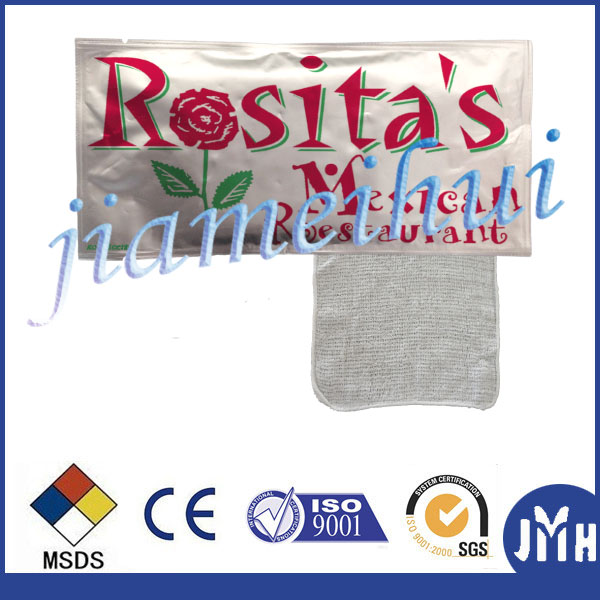 100% Cotton Restaurant Refreshing Wet Towel Factory OEM