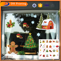 Santa Claus window clings stickers christmas stickers free
