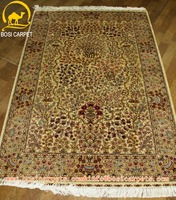 4x6ft kilim silk carpet rug hand knotted home textile kashmir carpet prices indian silk islamis rugs