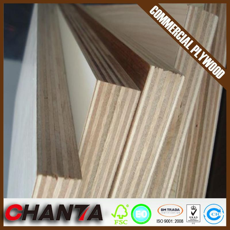 16mm 5-ply pencil cedar face hard wood back poplar core commercial plywood