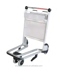 Airport luggage trolley , hand brake trolley ,Aluminum trolley