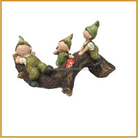 funny resin children garden statues elf decorative