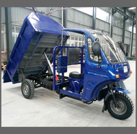 200CC 250CC cargo tricycle with cabin, garbage truck three wheel with hydraulic box up