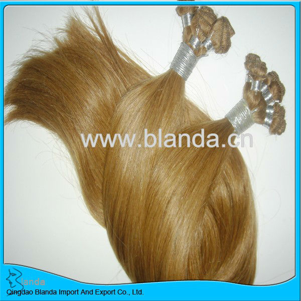 hand tied remy human hair weave