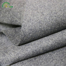 Fashionable 50% wool 50% polyester heavy woolen coat double face fabric