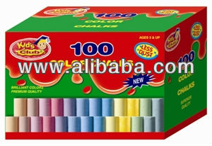 High Quality 100ct Color Dustless Chalk