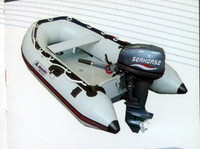 Inflatable speed boat for fishing