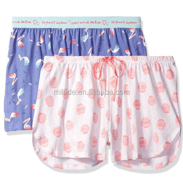 Custom basic boxer shorts design women cotton elastic boxer shorts wholesale printed pattern beach shorts