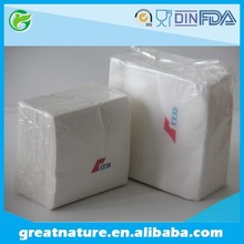 Folded decorative paper napkins serviettes for restaurant