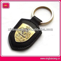 Custom Leather Keyring with metal logo