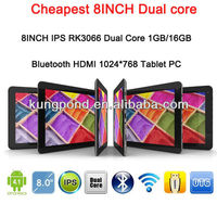 2012 Hottest Rockchip 3066 Dual Core 1.6Ghz 8inch IPS capacitive screen Android 4.1, 8inch tablet pc android 4.1