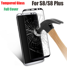 2017 trending products Ultra Thin 3D Full Cover Curved s8 tempered glass for Samsung galaxy s8 plus screen protector