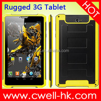7 inch 3G Cheap Rugged tablet pc PS-K8000 MTK6572 dual core 2.0MP back camera with flashlight GB RAM 8GB ROM