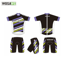 Wosawe Digital Sublimation Printing customized Jersey Men's Breathable Cycling 4D Gel Pad Maillot