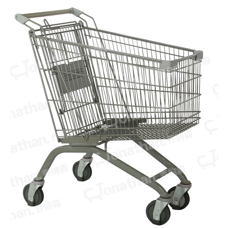 Jonathan 125L Powder and zinc coating transport supermarket trolley for shopping