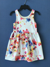 New Design Colorful Children Flower Girl Dress