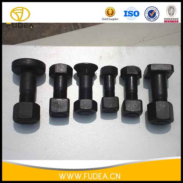 Hot forging double headed bolt for excavator