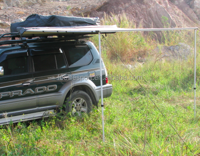 280g canvas aluminum poles car side awning tent