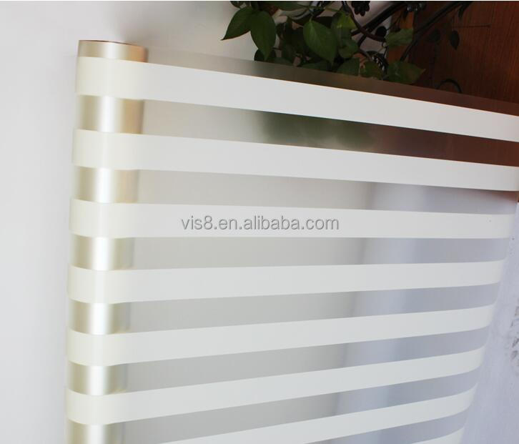 Decorative PET 5mm Wide White Stripe Glass Sun Protection Film Similar to 3M Window Film