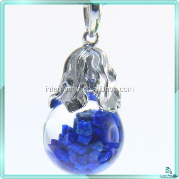 Promotional Jewelry 925 Sterling Silver lapis Pendant with Floating Clips