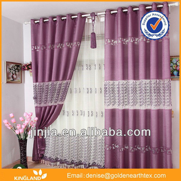 Solid curtain tread curtain fabric home furniture luxury curtain drape