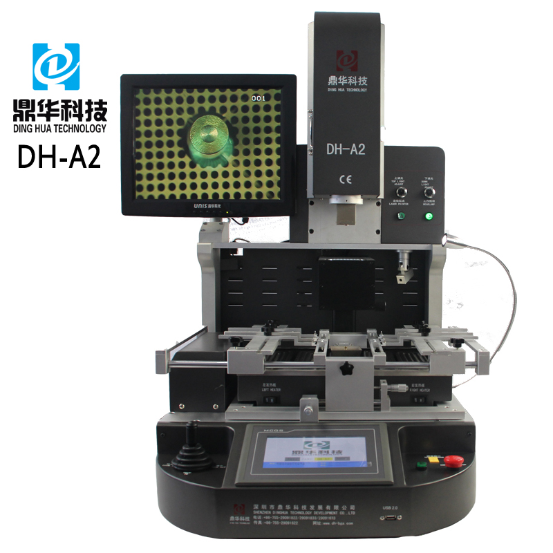 Dinghua DH-A2 semi-auto bga rework station soldering machine with adjusted temperature heating element