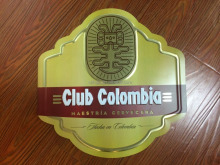 Club Colombia metal plate,printing aluminum plate,metal crafts