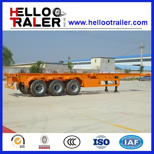 Road Transport Container Chassis Skeleton Trailer for Sale