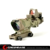 air gun hunting red dot for rifle scope optic 4x32 optical fiber Multicam NGA0412